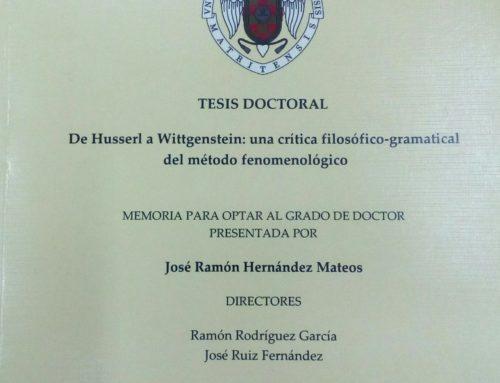 Defensa de tesis: D. José Ramón Hernández Mateos