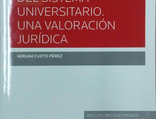 Libro: La Reforma del Sistema Universitario. Una valoración jurídica