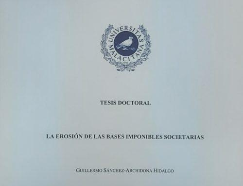 Defensa de Tesis: D. Guillermo Sánchez-Archidona Hidalgo